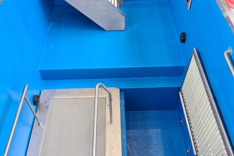 ASB-McM Constructions Watford FC Medical Centre Plunge Swimming Pool Installation Build